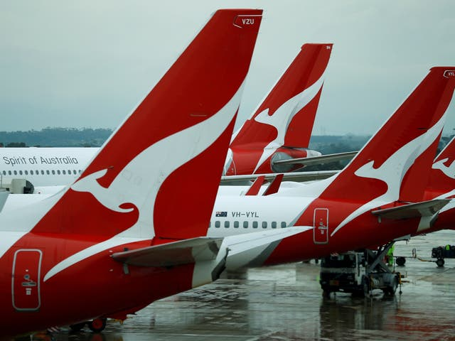 <p>Qantas aircraft are seen on the tarmac at Melbourne International Airport in Melbourne, Australia</p>