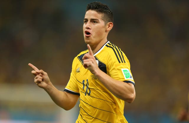 <p>Colombia and Everton are at odds over James Rodriguez's fitness</p>