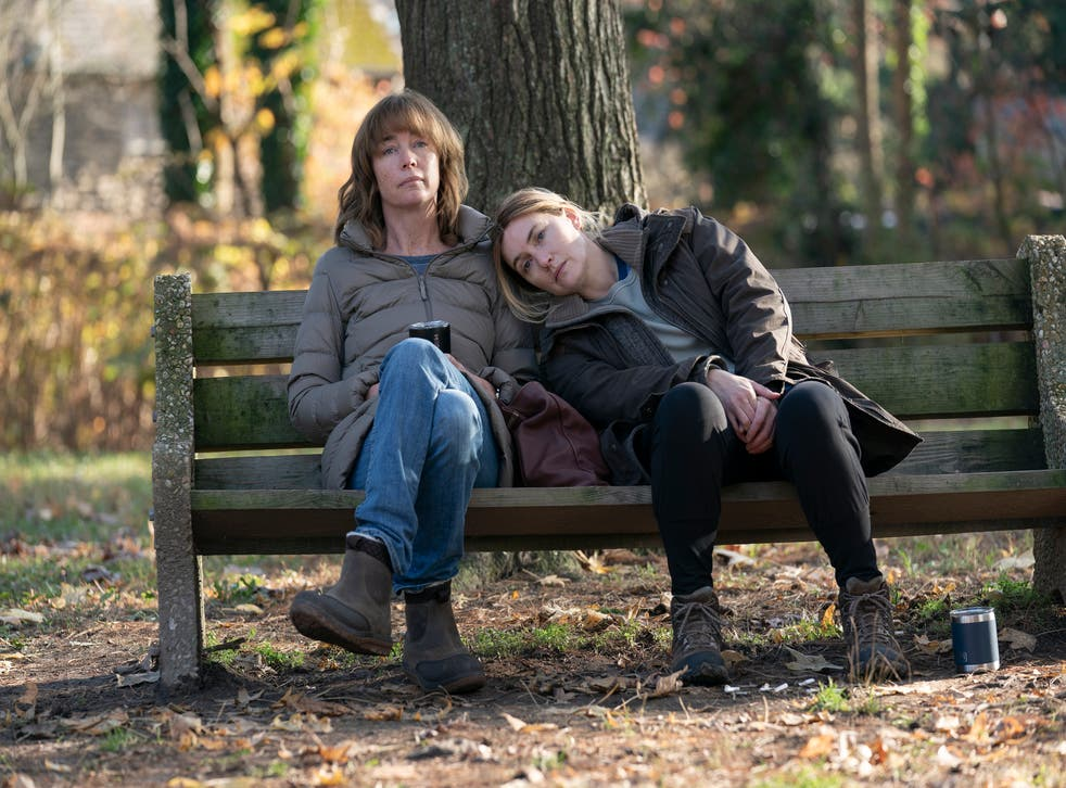 <p>Julianne Nicholson and Kate Winslet in a scene from 'Mare of Easttown'.</p>