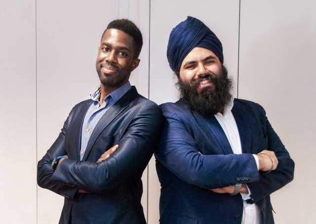 <p>Founders Carlton Cummins and Amrit Chandan</p>
