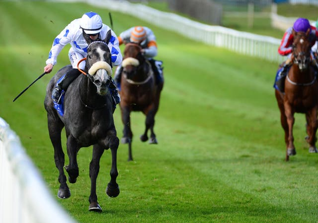 Lustown Baba (left) winning at the Curragh