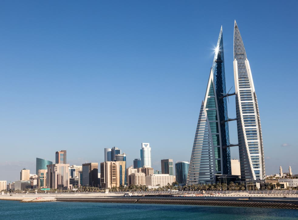 <p>Bahrain has just turned red</p>
