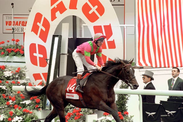 Shaamit wins the Derby in 1996