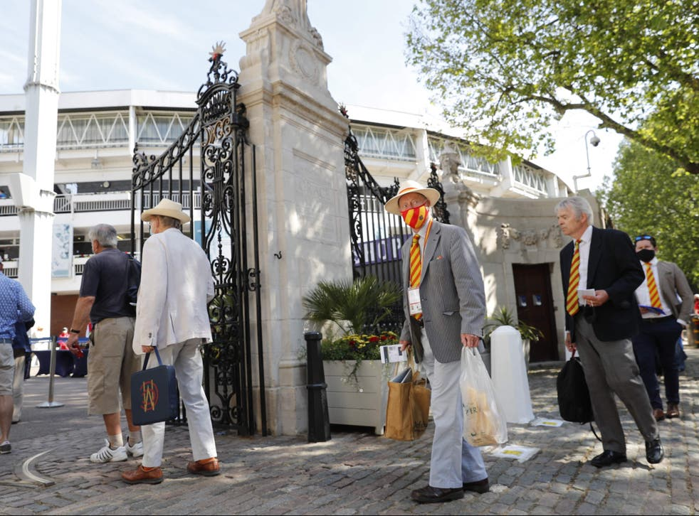 <p>Spectators returned to Lord's on Wednesday</p>