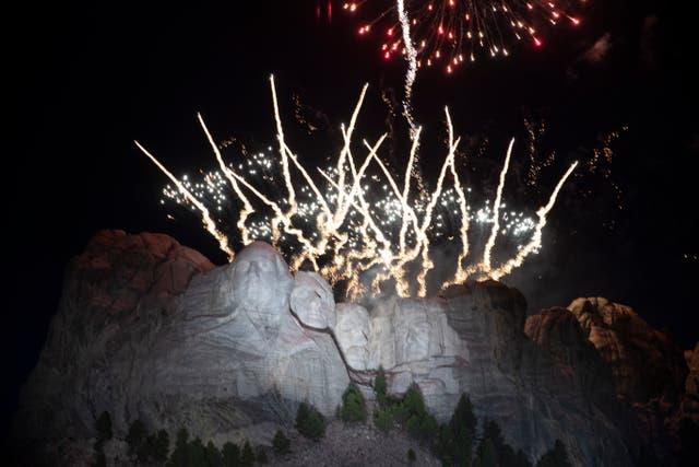 <p>Mount Rushmore Fireworks</p>