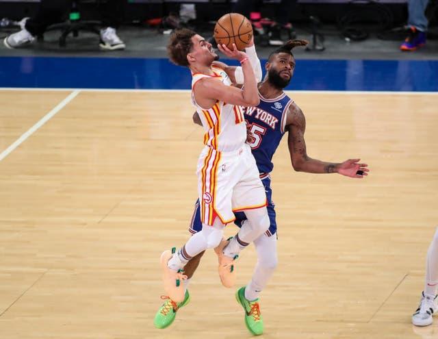 Atlanta Hawks guard Trae Young in action