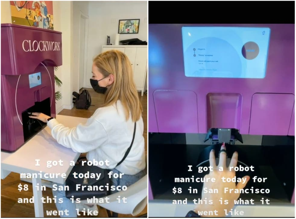 <p>Clockwork in San Francisco says it offers the 'first robot manicure for unstoppable humans'</p>