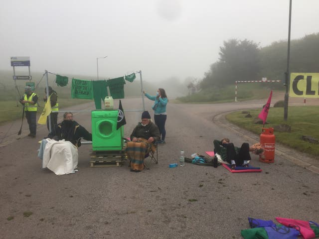 <p>The protest aimed to highlight 'greenwashing' policies </p>