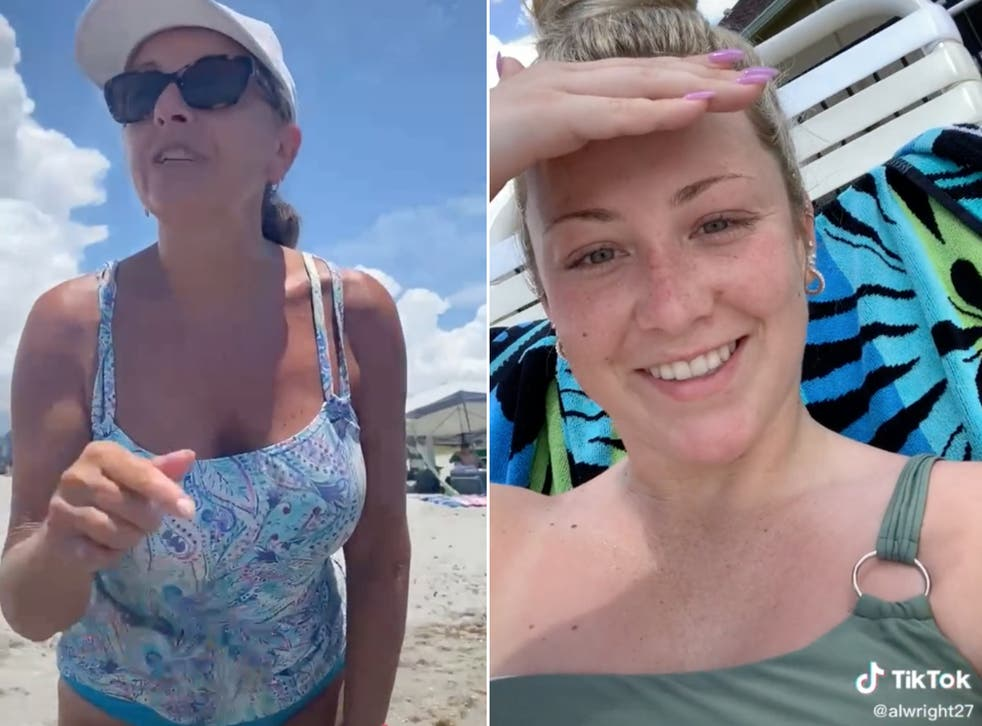<p>Allie Wright (right) shared a recording of the encounter on TikTok</p>