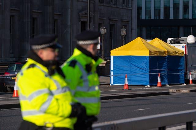 <p>Fishmongers Hall on London Bridge following the terror attack </p>