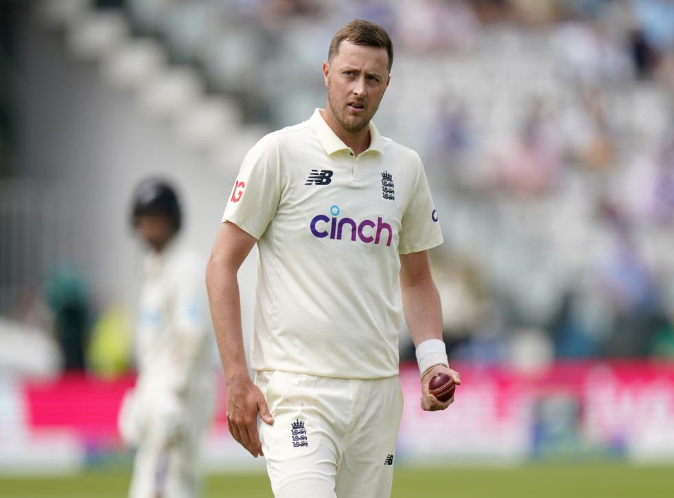 <p>Ollie Robinson pictured at Lord's on day two</p>