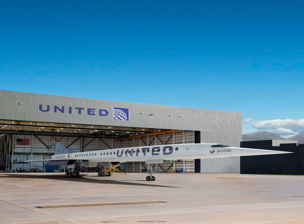 UNITED AIRLINES-AVION SUPERSONICO
