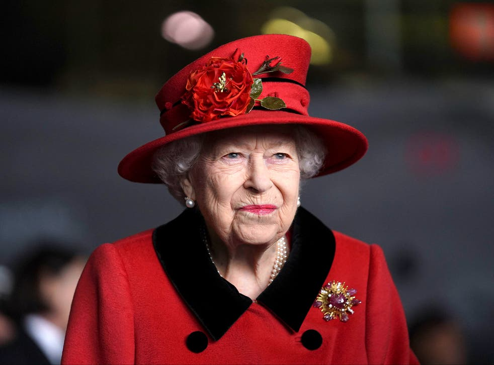 <p>Queen Elizabeth II during her visit to the aircraft carrier HMS Queen Elizabeth in Portsmouth</p>