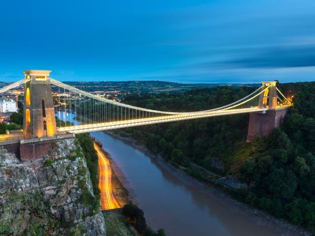 <p>Bristol's famous Clifton Suspension Bridge</p>