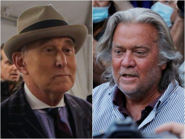 <p>Roger Stone afirmó que el ex estratega jefe de la Casa Blanca y director ejecutivo de la campaña Trump chantajeó al entonces presidente Trump para obtener un indulto.</p>