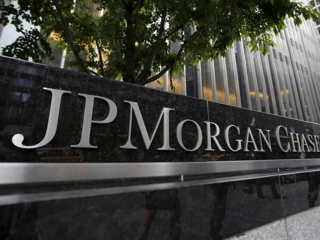 <p>A view of the exterior of the JP Morgan Chase & Co. corporate headquarters in New York City May 20, 2015.</p>