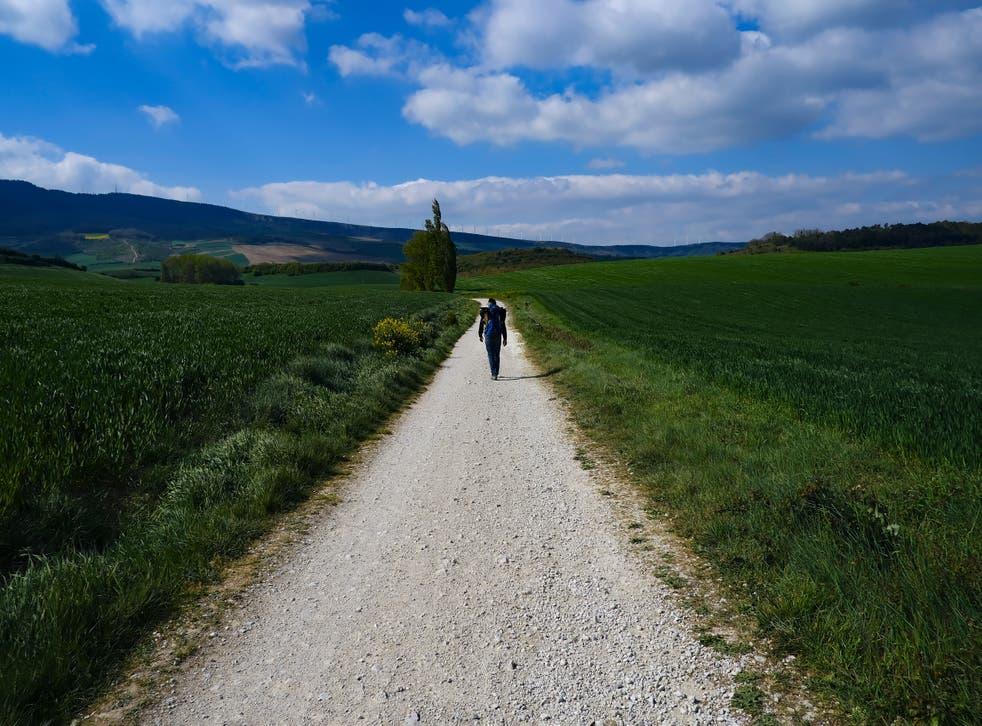 Virus Outbreak Spain Pilgrim's Path