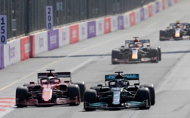 Lewis Hamilton finished 15th in Baku