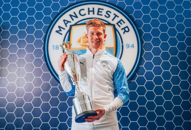 <p>Kevin De Bruyne has been named PFA men's player of the season again</p>