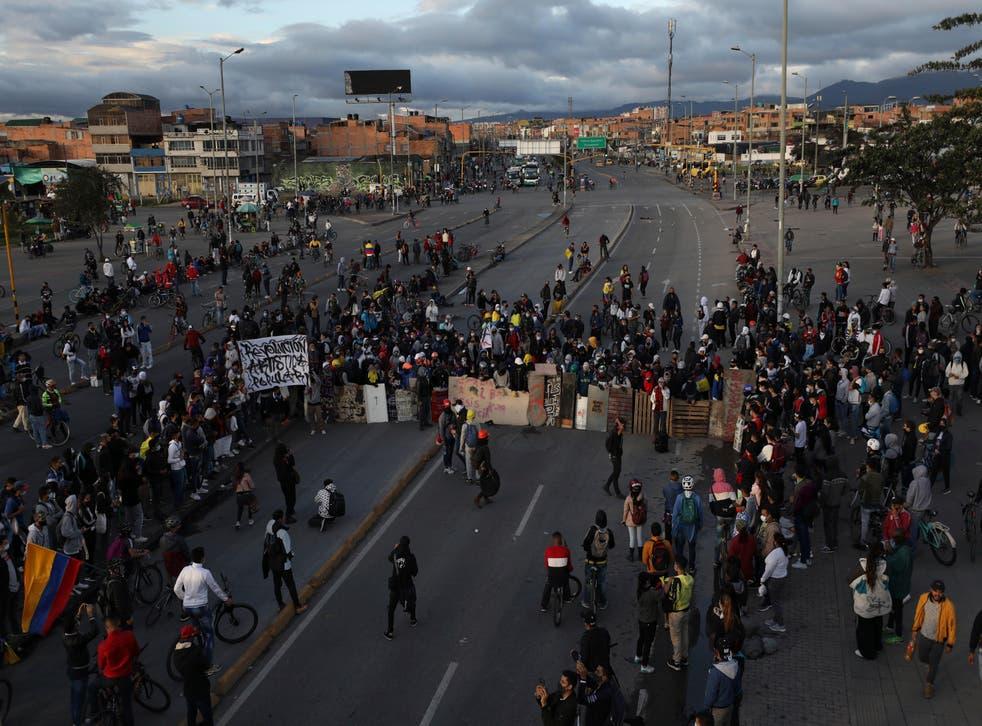 COLOMBIA-VIOLENCIA EN PROTESTAS