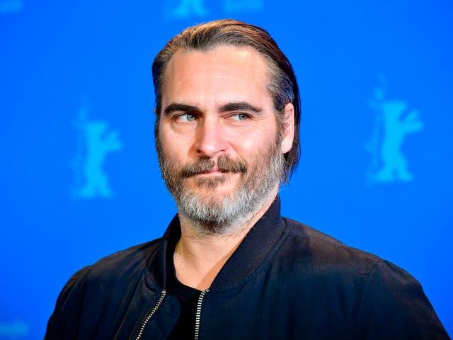 <p>Actor Joaquin Phoenix at the Berlinale film festival in 2018</p>