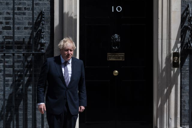 <p>Boris Johnson outside 10 Downing Street</p>