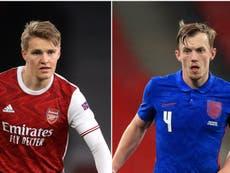 Arsenal target Ruben Neves and Martin Odegaard as Aston Villa eye James Ward-Prowse