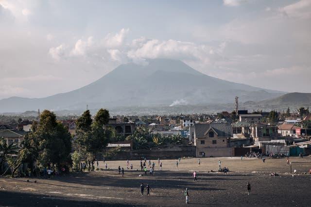 <p>The Nyiragongo volcano is Africa's most active volcano</p>