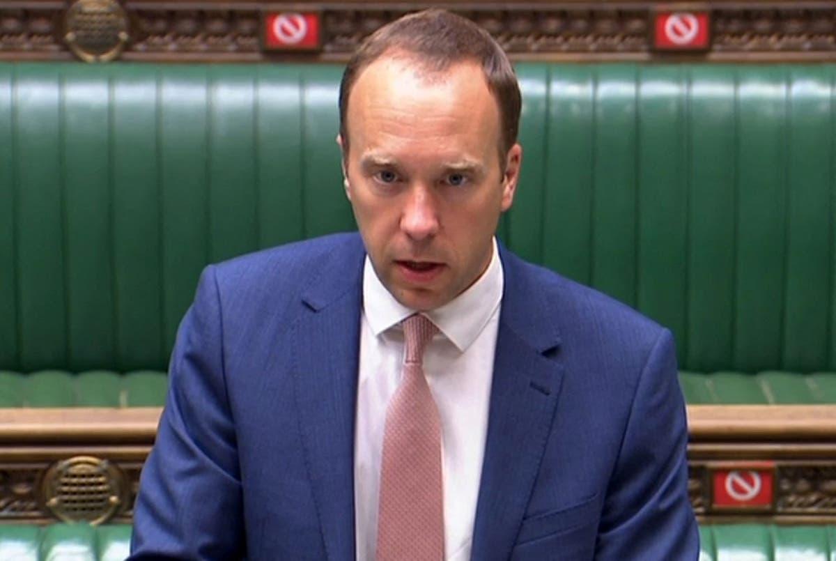 Matt Hancock faces grilling from MPs - follow Covid news live
