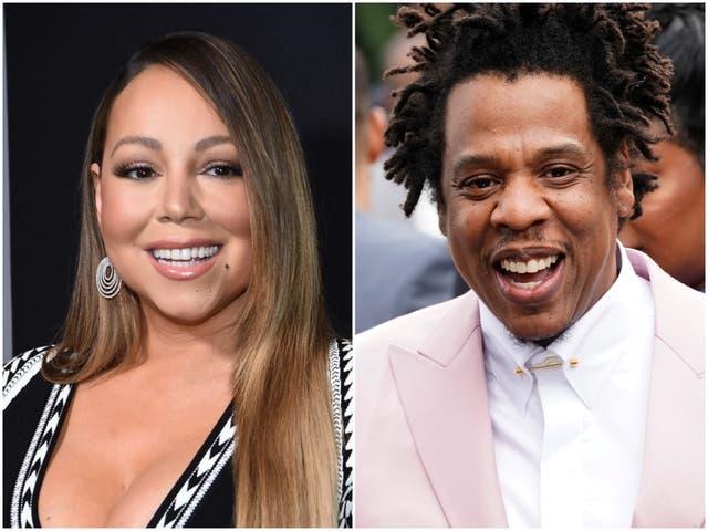 <p>Mariah Carey and Jay-Z</p>