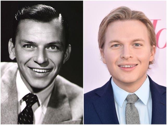 <p>Frank Sinatra and Ronan Farrow</p>