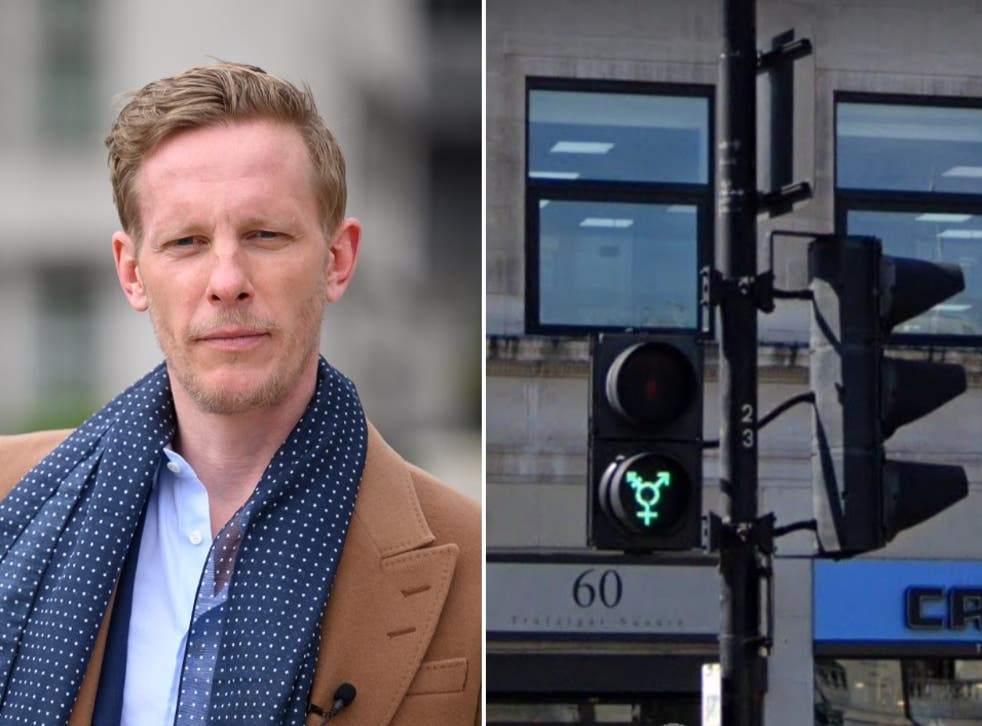 <p>Fox shared his feelings about the Pride traffic lights on Twitter</p>