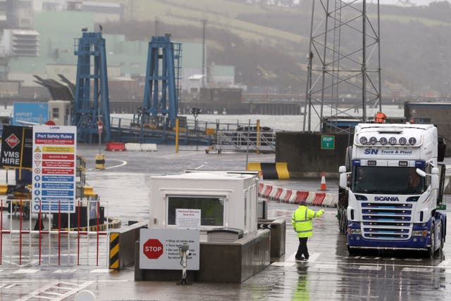 <p>Physical inspections on goods entering Northern Ireland</p>