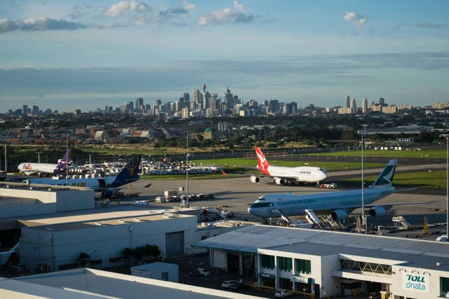<p>The rooftop prank was nearby Sydney airport</p>
