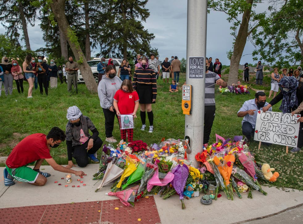<p>Four members of a Muslim family were killed in a 'premeditated' truck attack in Canada, police say</p>