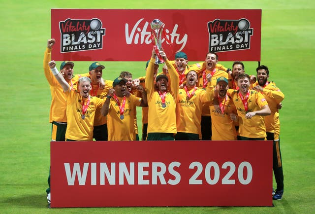 Nottinghamshire Outlaws won the Vitality Blast in 2020