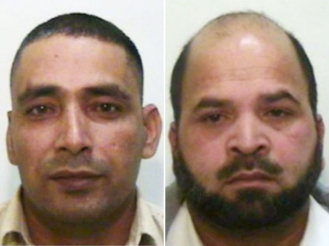 <p>Adil Khan (left), 51 and Qari Abdul Rauf (right), 52, members of a Rochdale grooming gang, are fighting deportation from the UK to Pakistan</p>