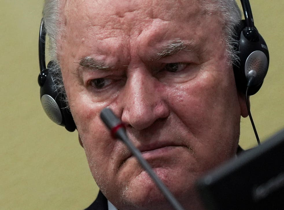 <p>Ratko Mladic sits in the courtroom prior to the pronouncement of his appeal judgement on Tuesday in The Hague</p>