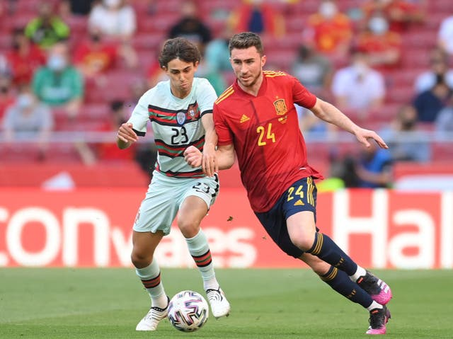 <p>Aymeric Laporte has switched to Spain</p>