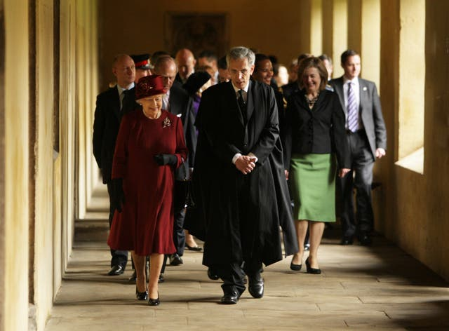 <p>The Queen at Magdalen College in 2008 </p>