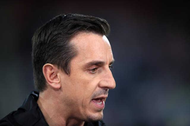 <p>Gary Neville, pictured, has welcomed the news Debbie Hewitt is set to become the Football Association's first chairwoman</p>