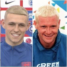 Phil Foden sports new dyed blond hair amid comparisons to Paul Gascoigne