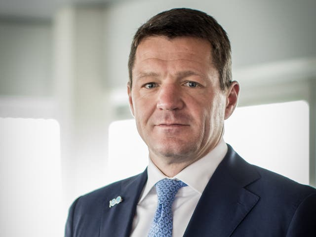 <p>Tough times: Pieter Elbers, chief executive of KLM Royal Dutch Airlines has seen passenger numbers collapsed by 75%</p>