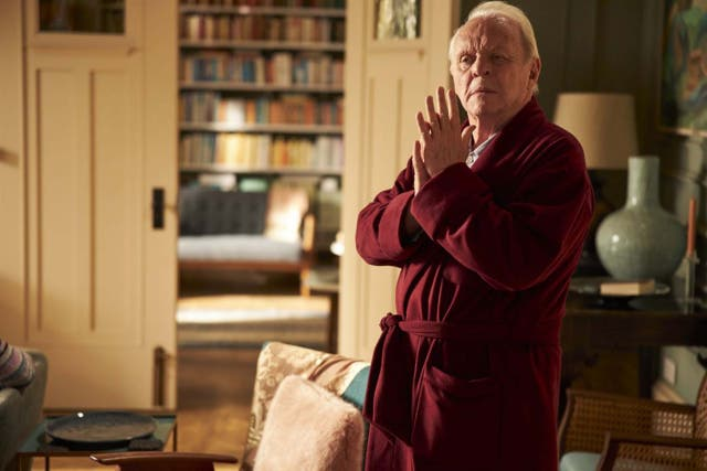 <p>Anthony Hopkins won an Oscar for his portrayal of a querulous old man with dementia in 'The Father'</p>
