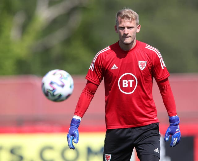 Wales goalkeeper Adam Davies
