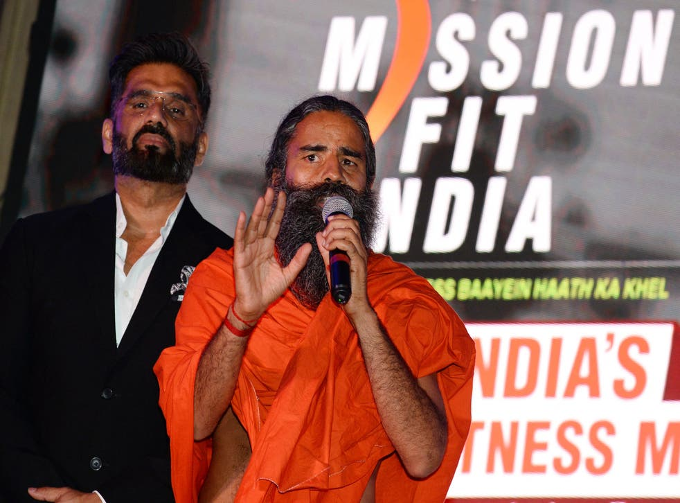 <p>File image: Baba Ramdev, India's most popular yoga guru, has angered doctors by claiming conventional medicine killed thousands of coronavirus patients</p>