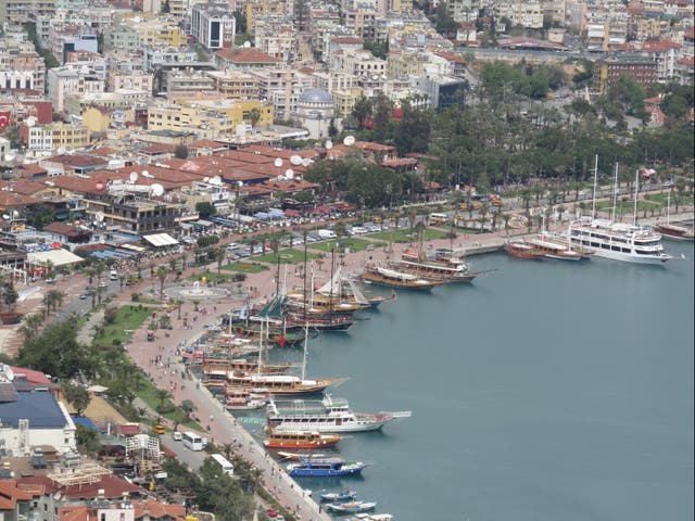 <p>Danger zone: Alanya in Turkey, on the UK's 'red list'</p>