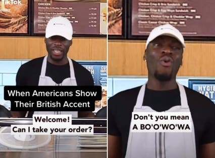 <p>Jesse Chuku shares what happens when Americans attempt an English accent</p>