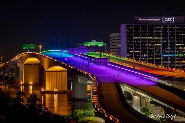 Florida Bridge-Rainbow Colors Banned