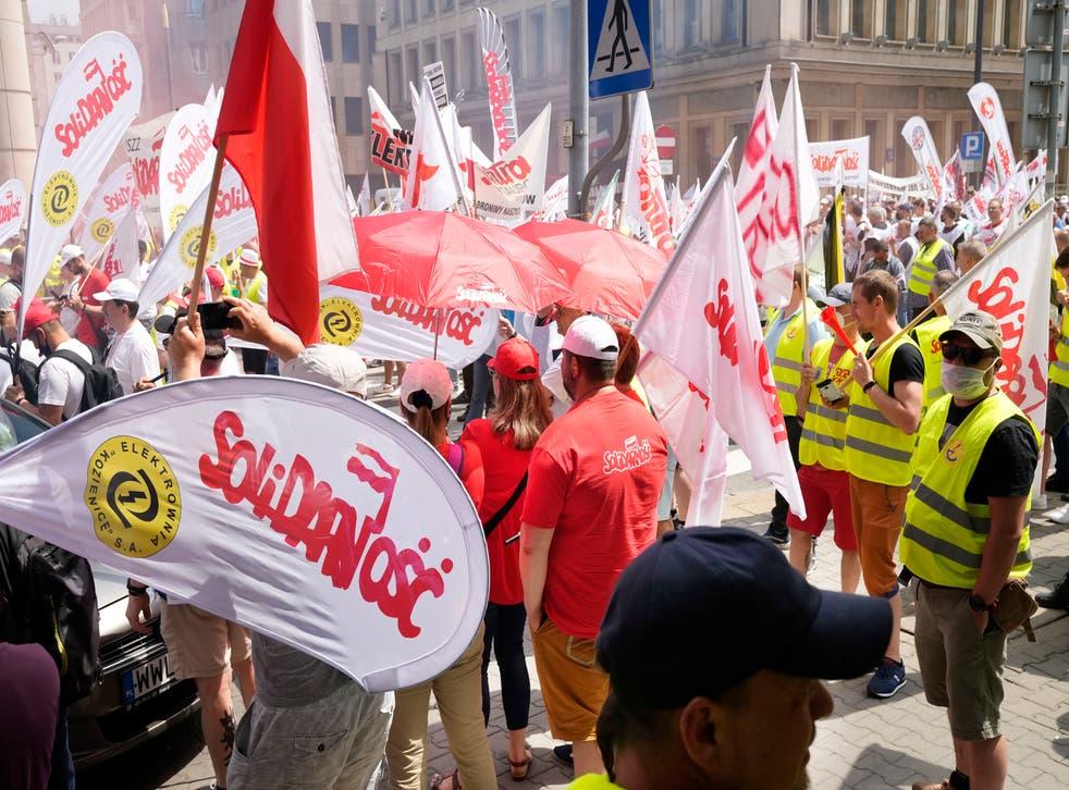 POLONIA-PROTESTAS